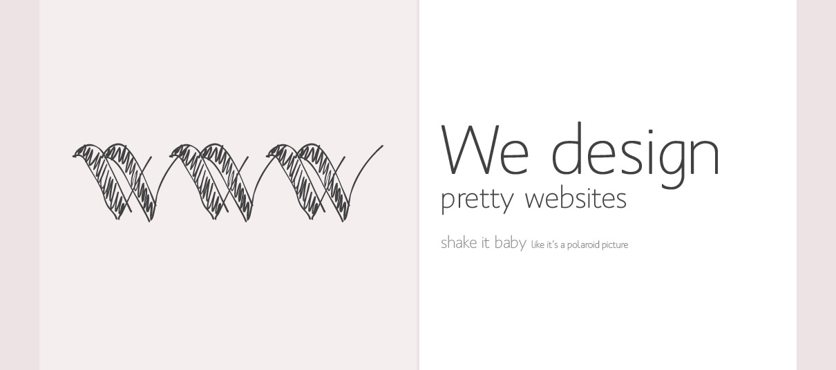 We design pretty websites